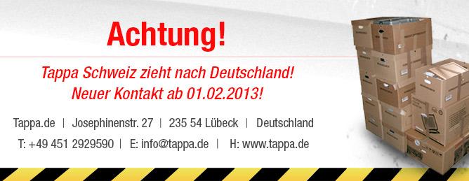 Tappa Schweiz zieht nach Deutschland!