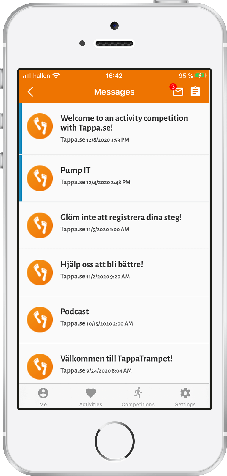 Tappa app - Send messages